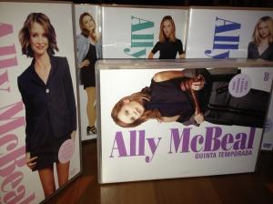 Portadas de los DVDs de la serie Ally Mcbeal