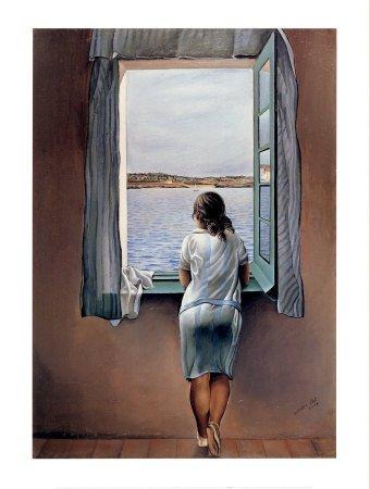 """Replica del cuadro de Dalí """"Muchacha en la ventana"""""""