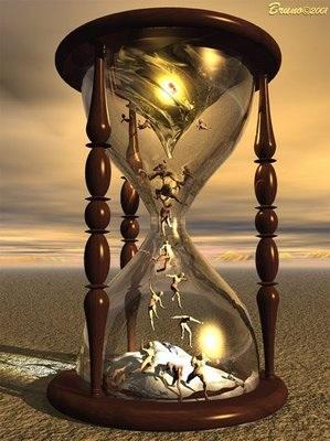 Dibujo de un reloj de arena