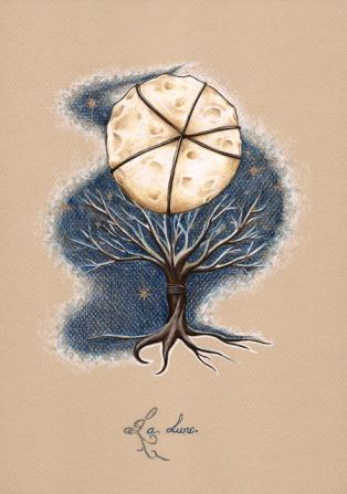 Ilustración de La Luna de Lillette Gobin